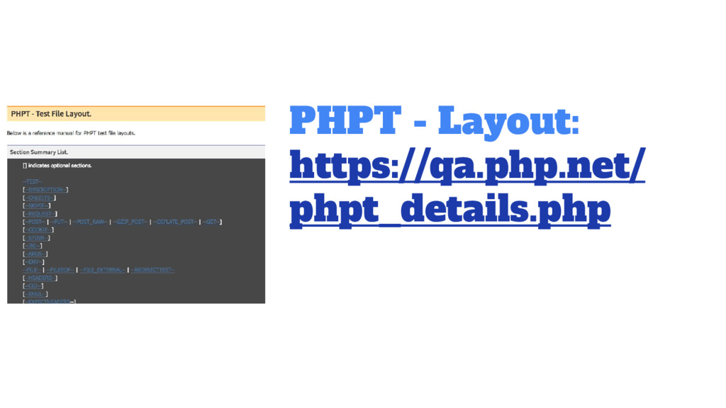 PHPT - Layout: https://qa.php.net/ phpt_details...