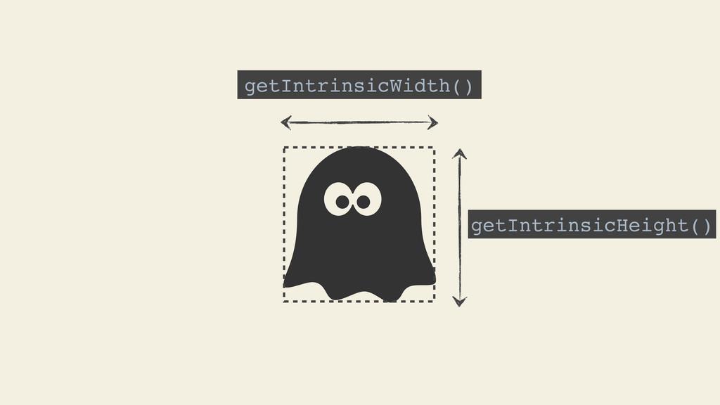 getIntrinsicWidth() getIntrinsicHeight()