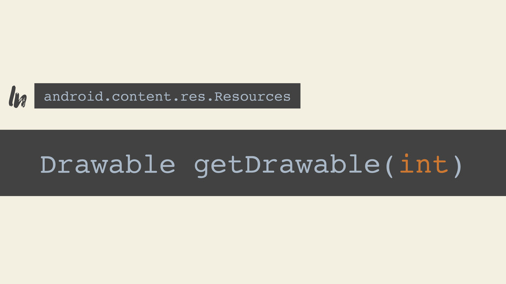 Drawable getDrawable(int) android.content.res.R...