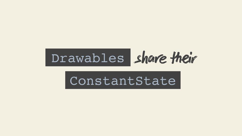 Drawables ConstantState s ir