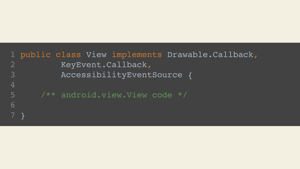 1 public class View implements Drawable.Callbac...