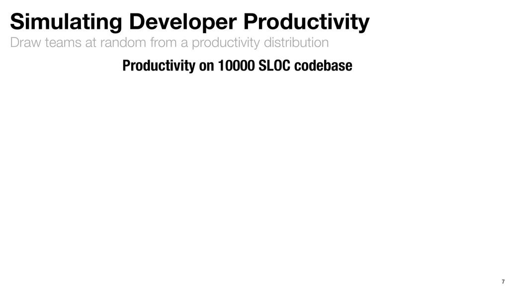 Draw teams at random from a productivity distri...