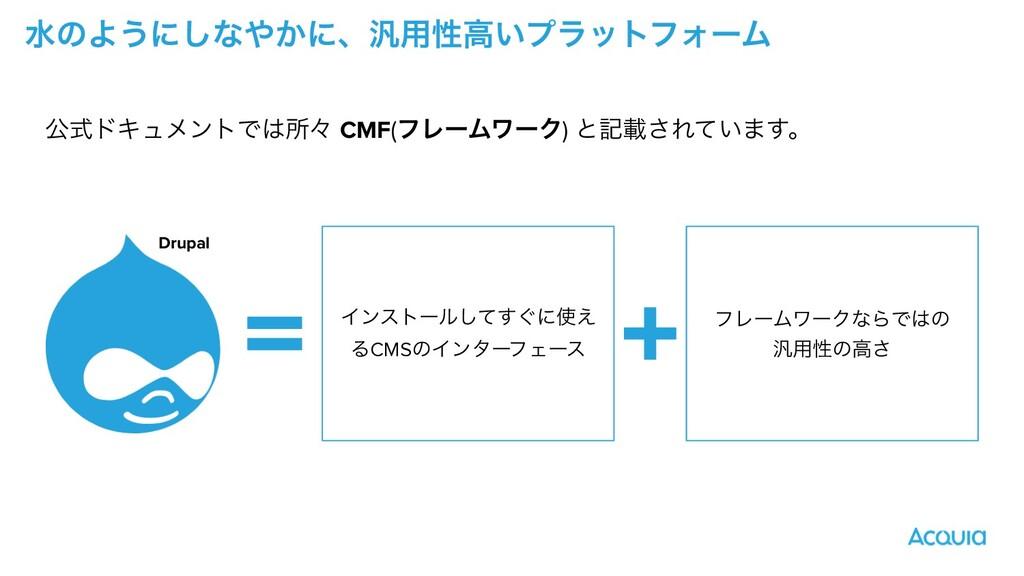 ਫͷΑ͏ʹ͠ͳ͔ʹɺ൚༻ੑߴ͍ϓϥοτϑΥʔϜ ެࣜυΩϡϝϯτͰॴʑ CMF(ϑϨʔϜϫ...