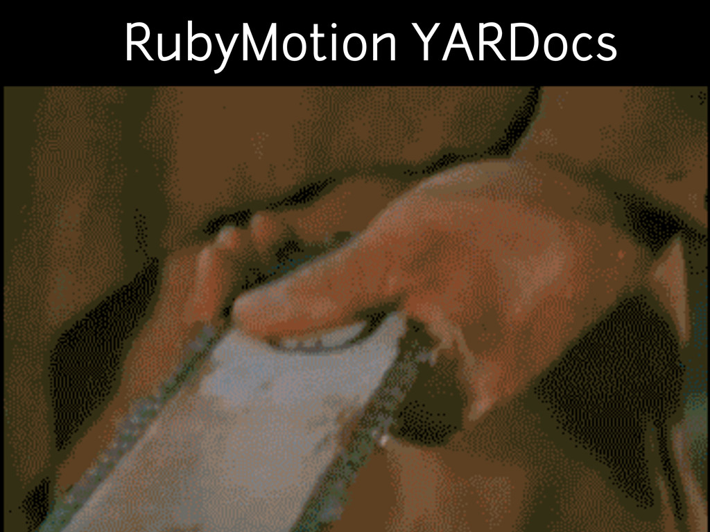 RubyMotion YARDocs
