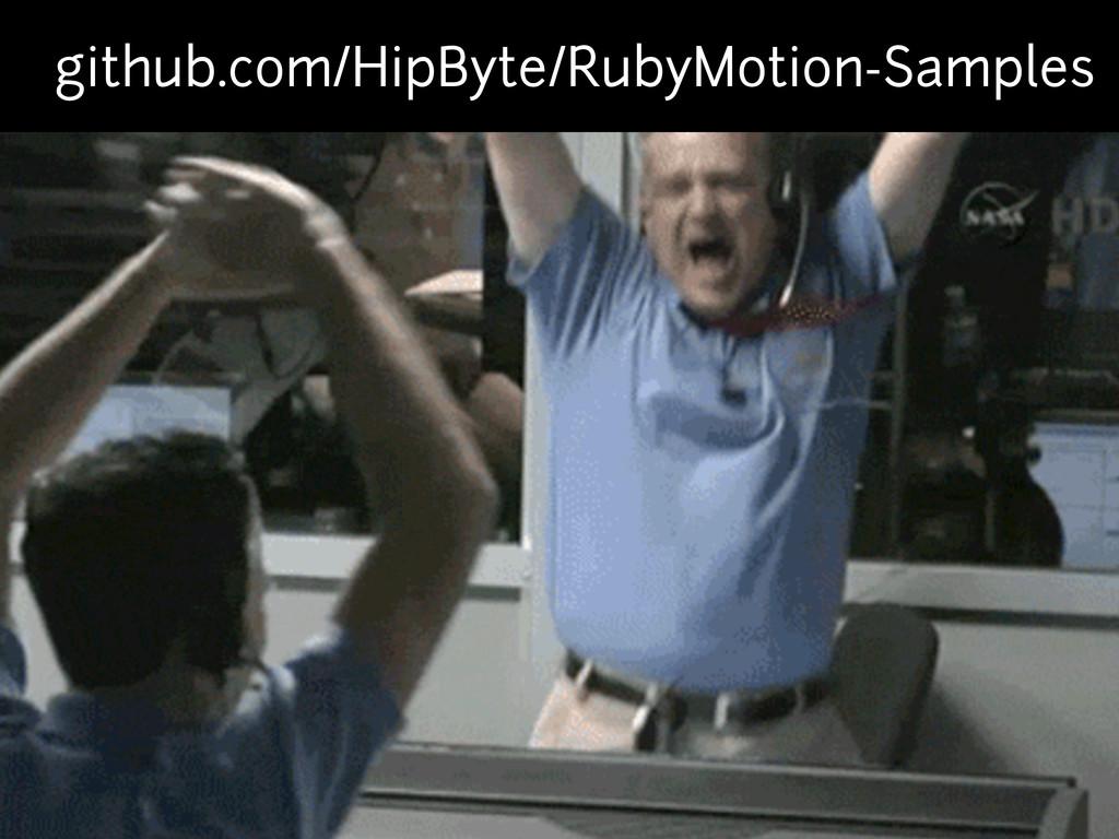 github.com/HipByte/RubyMotion-Samples