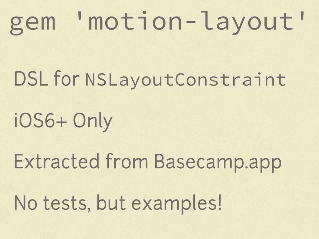 DSL for NSLayoutConstraint iOS6+ Only Extracted...