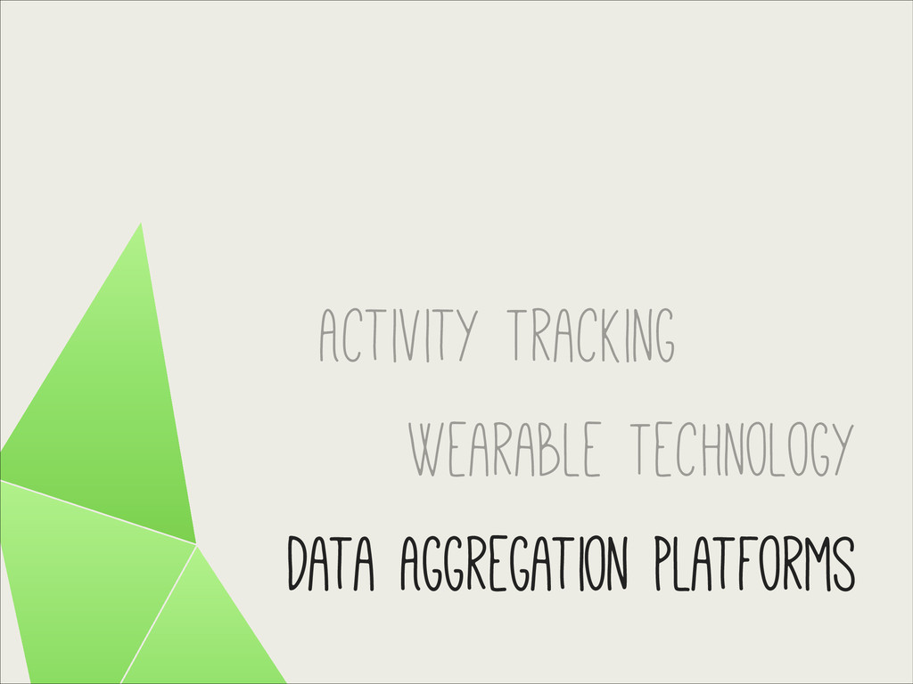 Activity Tracking Wearable Technology Data Aggr...