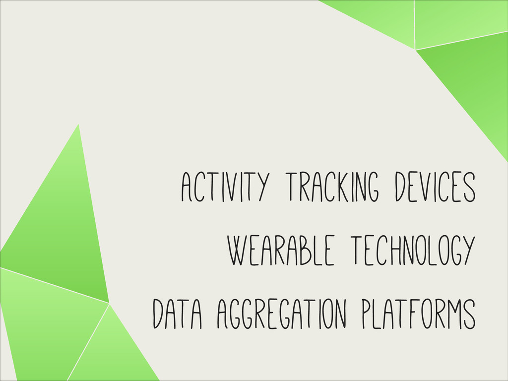 Activity Tracking Devices Wearable Technology D...