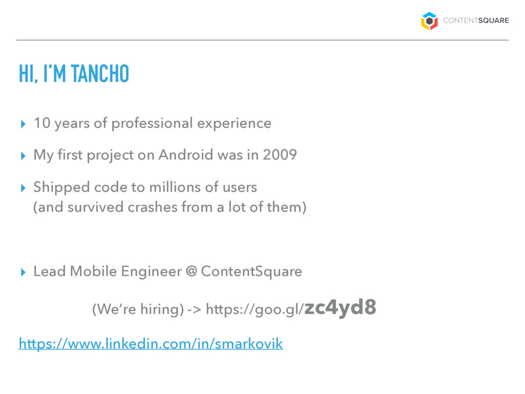 HI, I'M TANCHO ▸ 10 years of professional exper...