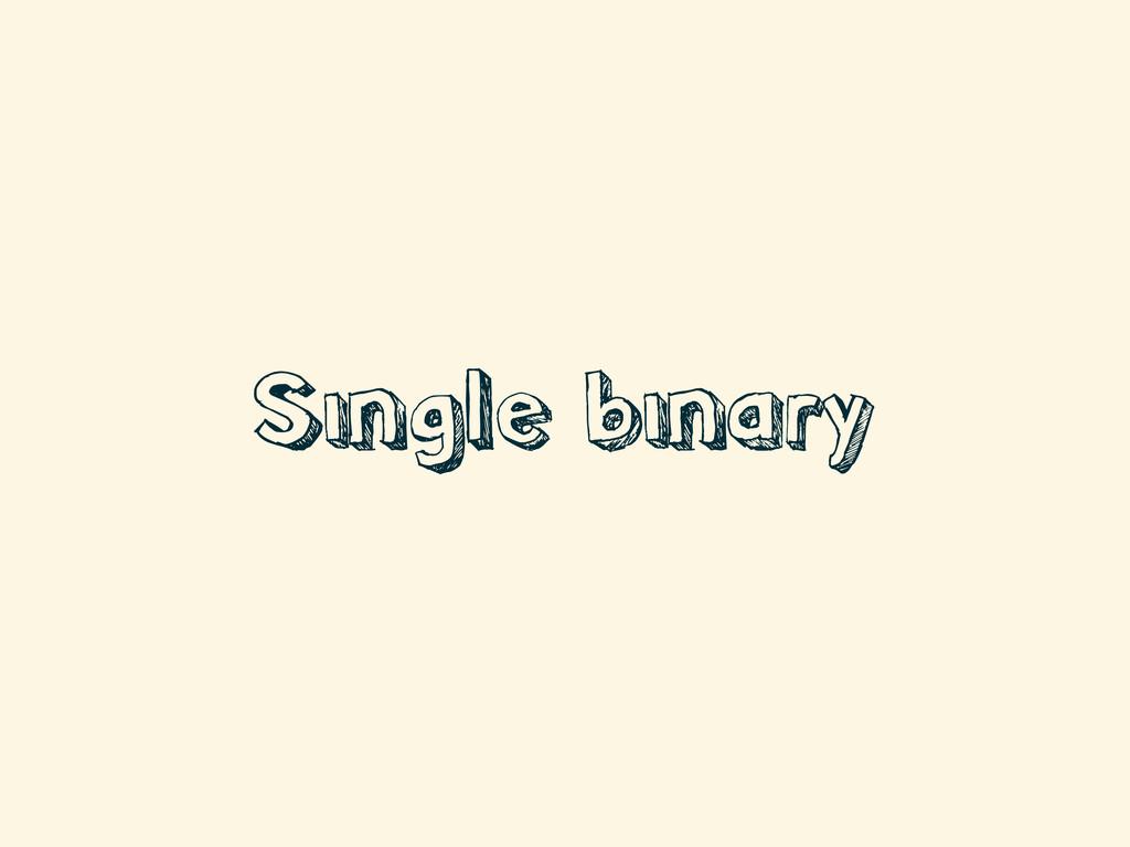 Single binary