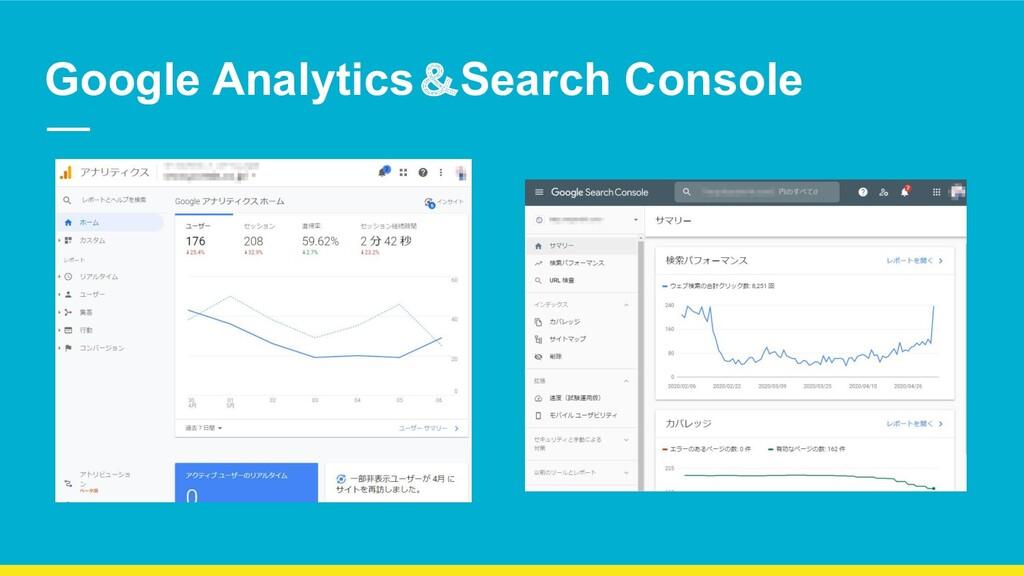 Google Analytics&Search Console