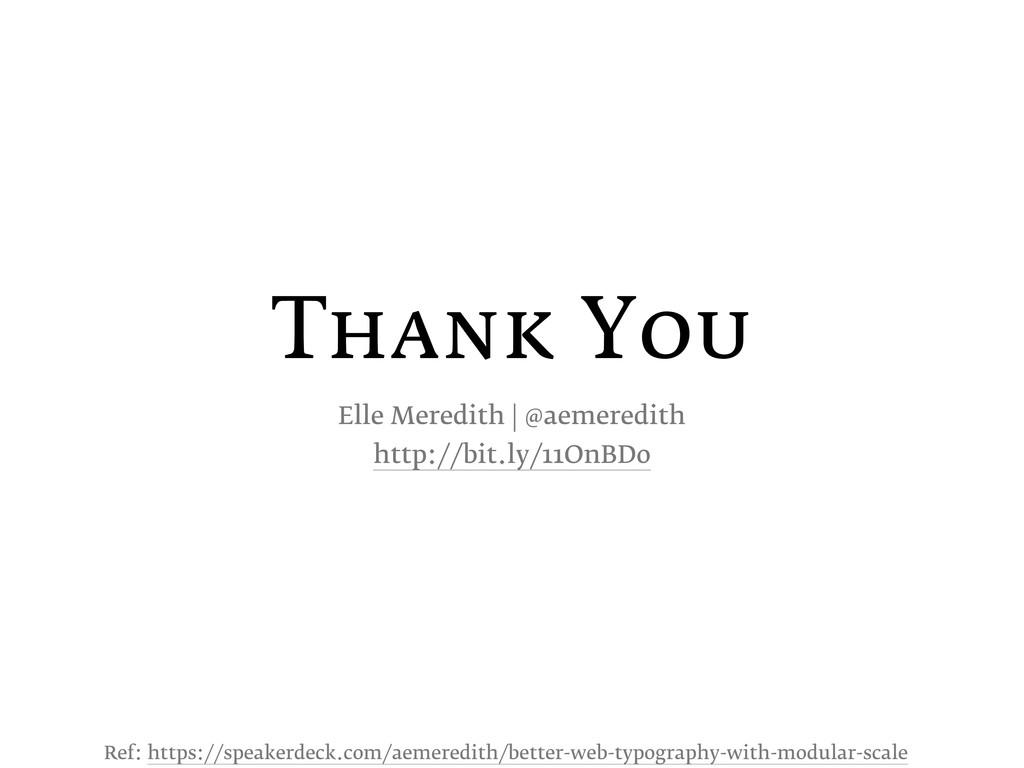 Thank You Elle Meredith | @aemeredith http://bi...