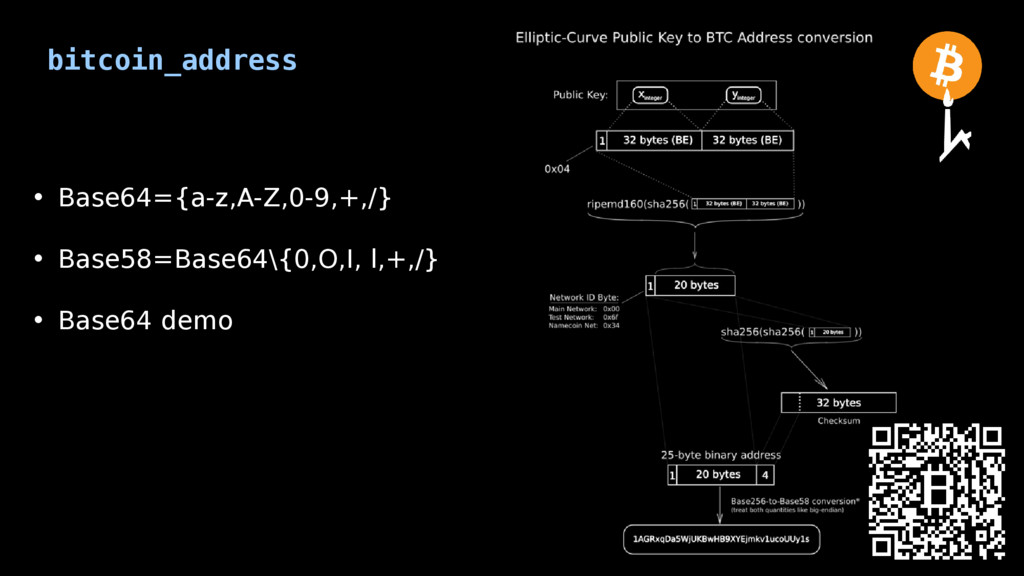 bitcoin_address • Base64={a-z,A-Z,0-9,+,/} • Ba...