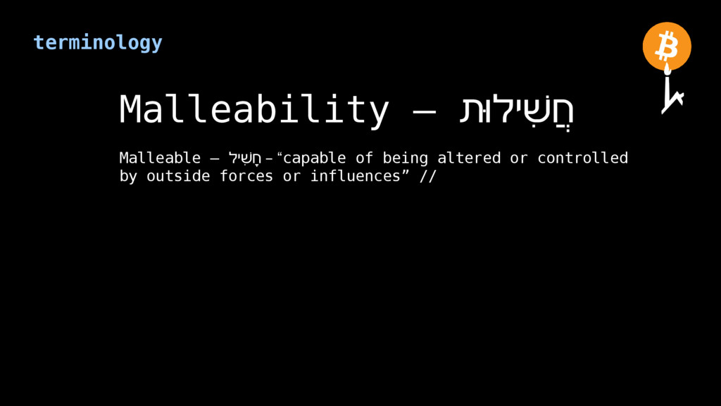 terminology Malleability – ת