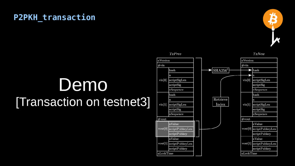 P2PKH_transaction Demo [Transaction on testnet3]