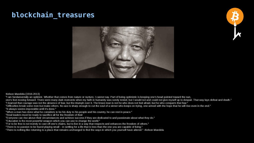 blockchain_treasures Nelson Mandela (1918-2013)...