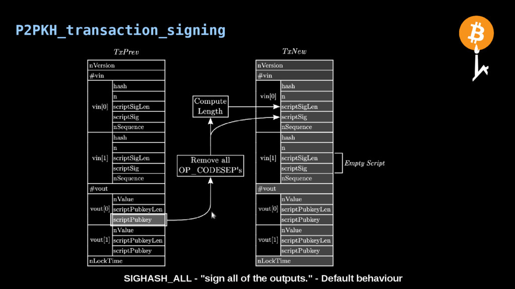 "P2PKH_transaction_signing SIGHASH_ALL - ""sign a..."