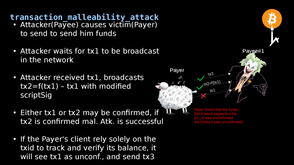 transaction_malleability_attack Payer Payee#1 •...