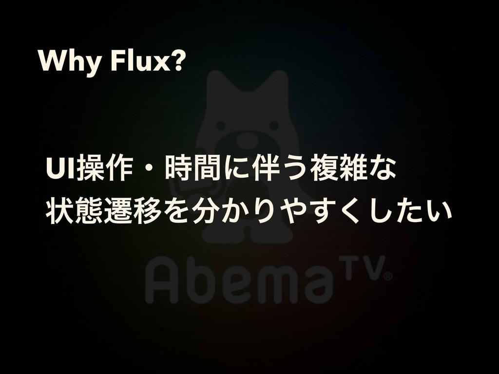 Why Flux? UIૢ࡞ɾؒʹ͏ෳͳ ঢ়ଶભҠΛ͔Γ͍ͨ͘͢͠
