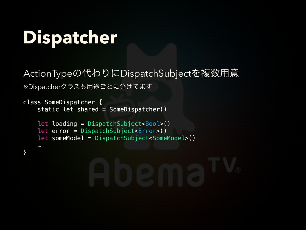 Dispatcher class SomeDispatcher { static let sh...