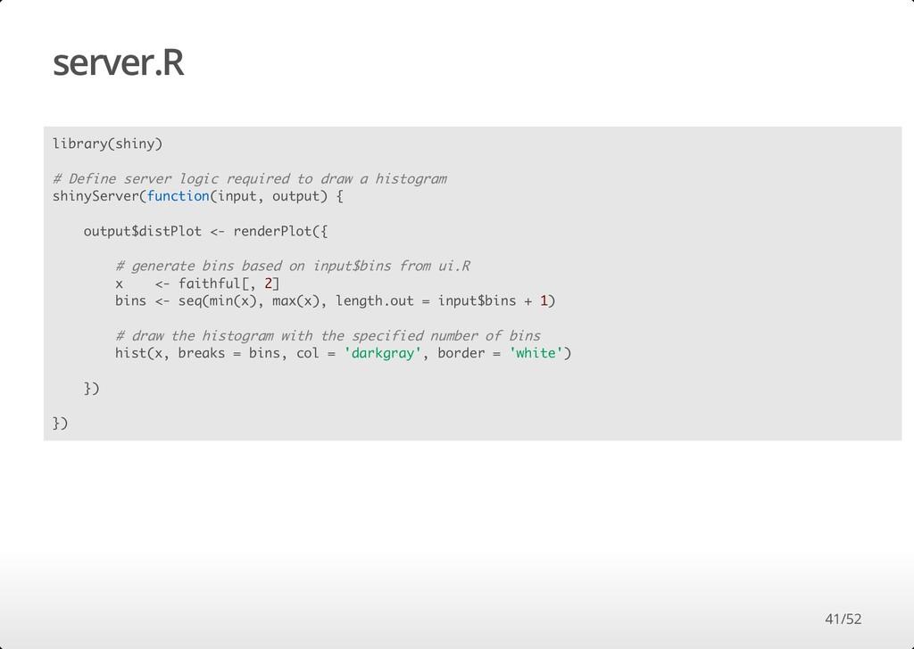 server.R library(shiny) # Define server logic r...