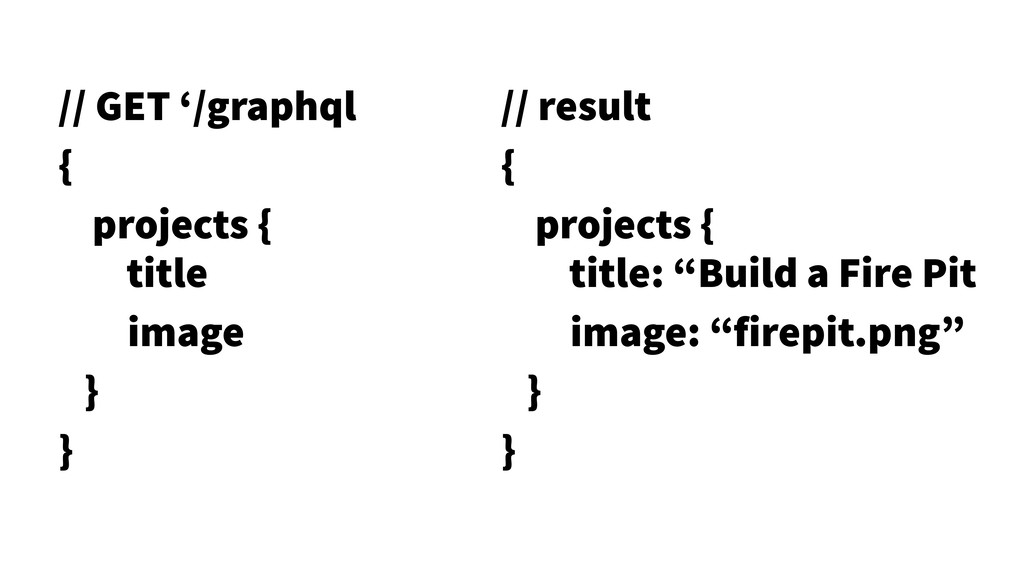 22 // GET '/graphql { projects { title image }...