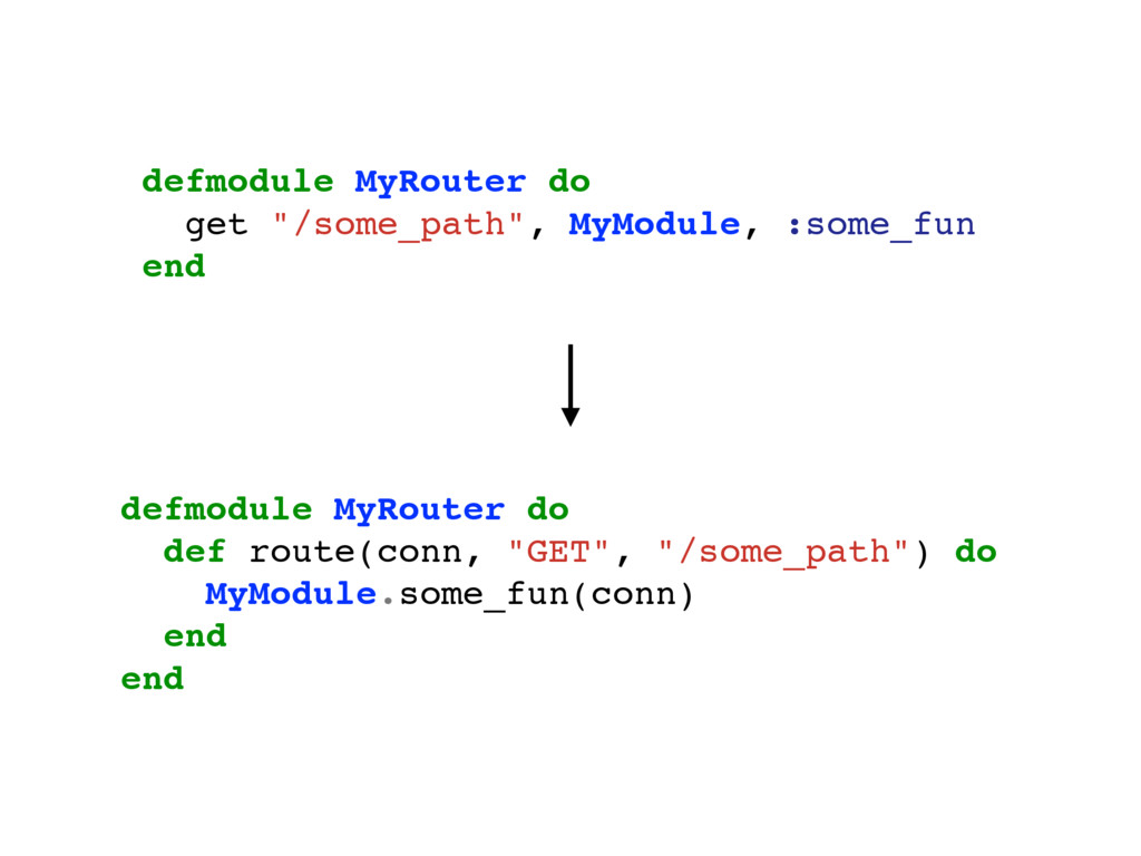 """defmodule MyRouter do get """"/some_path"""", MyModul..."""