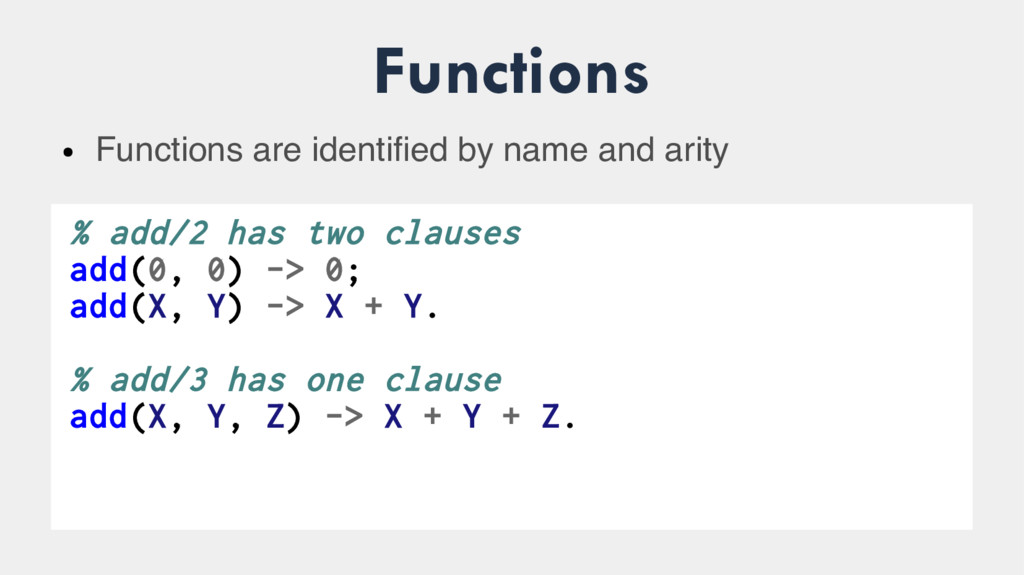 Functions ● Functions are identified by name an...