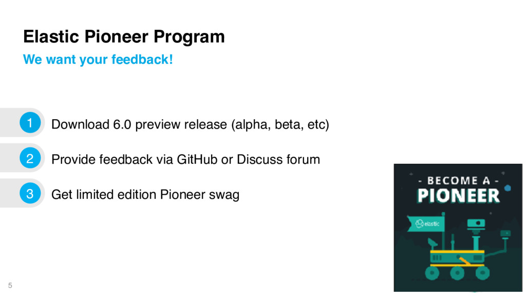 5 Elastic Pioneer Program Download 6.0 preview ...