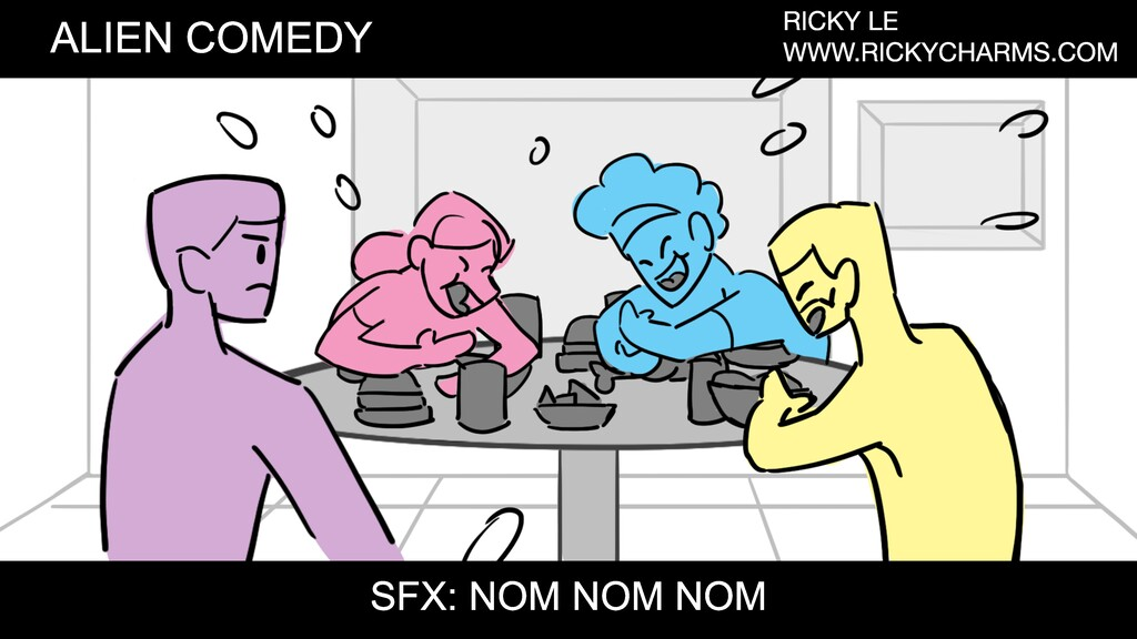 ALIEN COMEDY RICKY LE WWW.RICKYCHARMS.COM SFX: ...