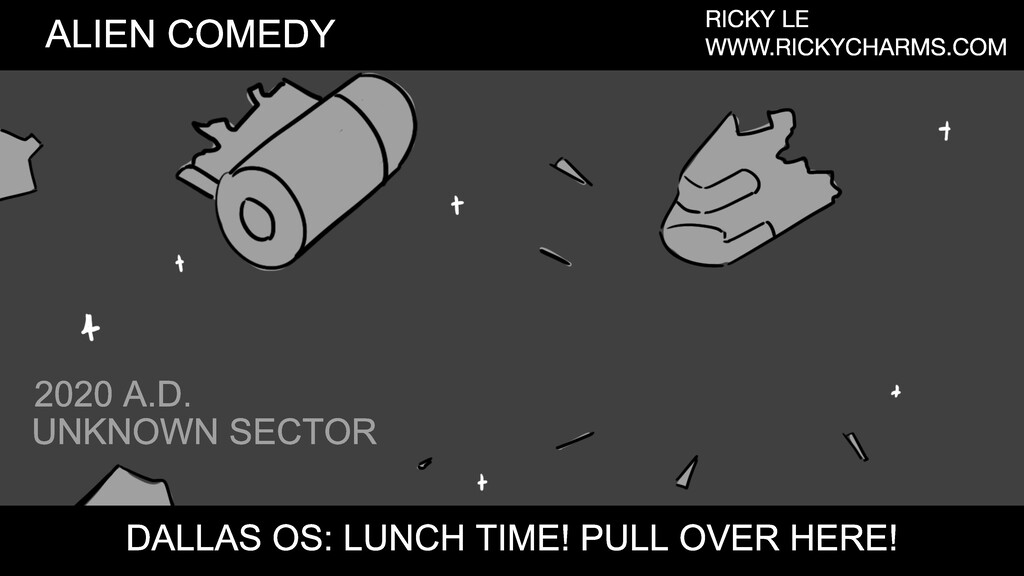 UNKNOWN SECTOR 2020 A.D. ALIEN COMEDY RICKY LE ...