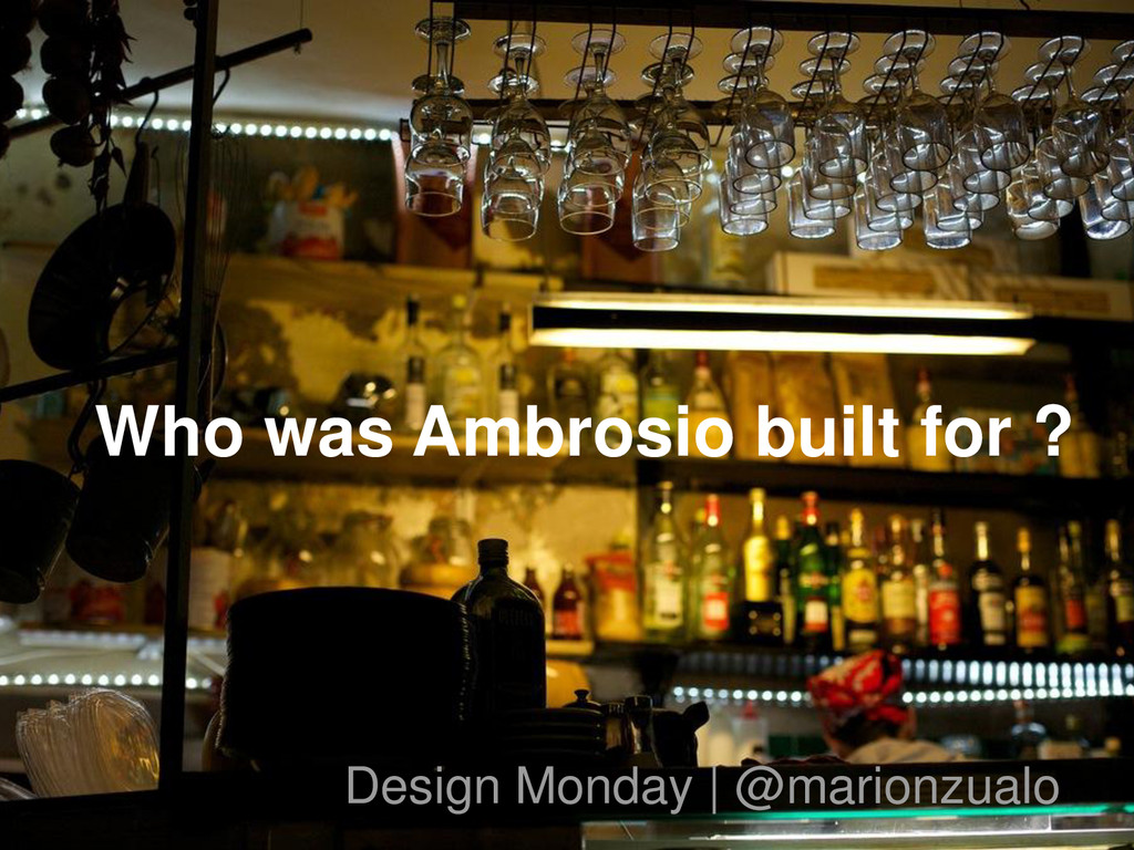 Who was Ambrosio built for ? Design Monday | @m...