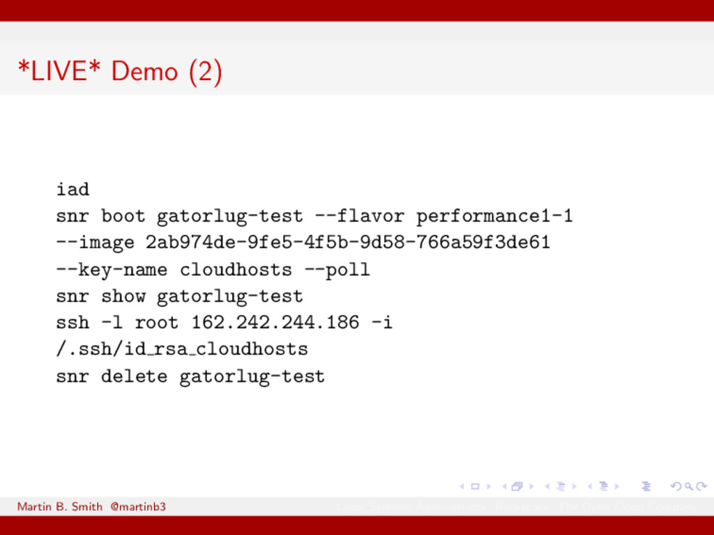 *LIVE* Demo (2) iad snr boot gatorlug-test --fl...