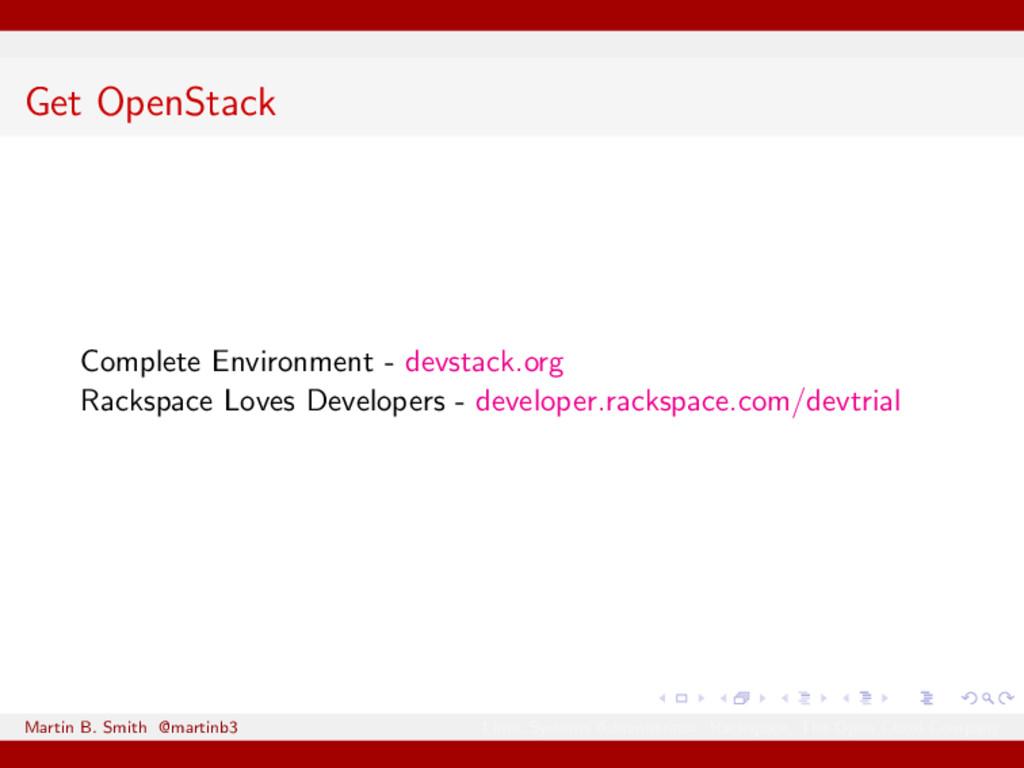 Get OpenStack Complete Environment - devstack.o...