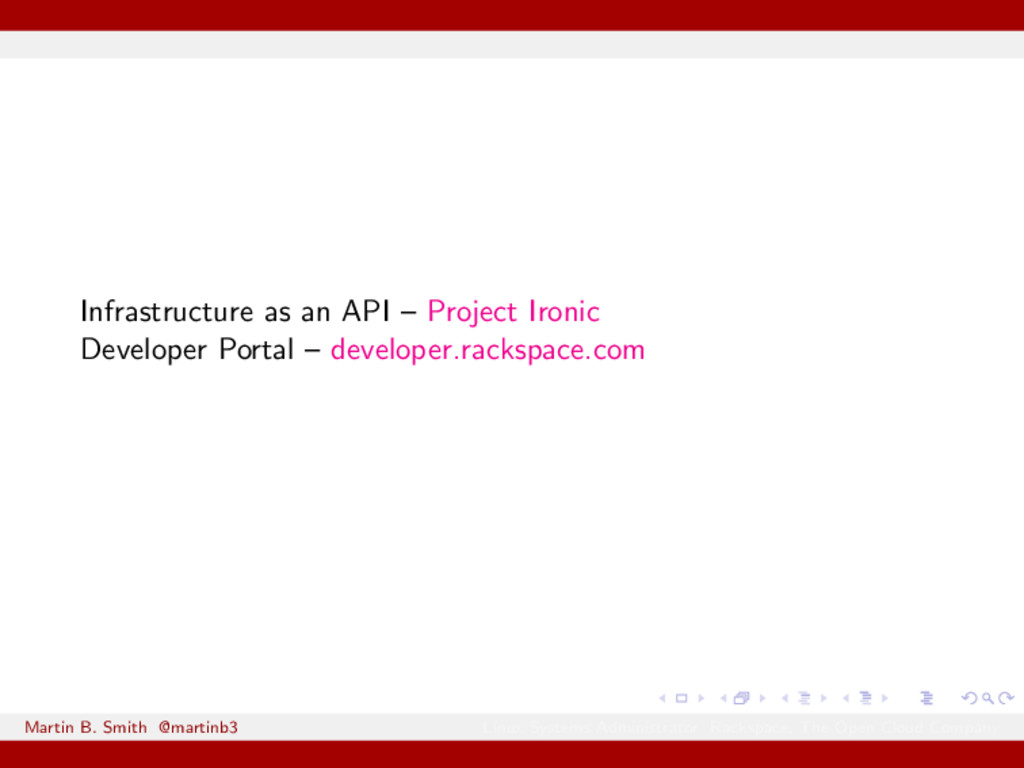 Infrastructure as an API – Project Ironic Devel...