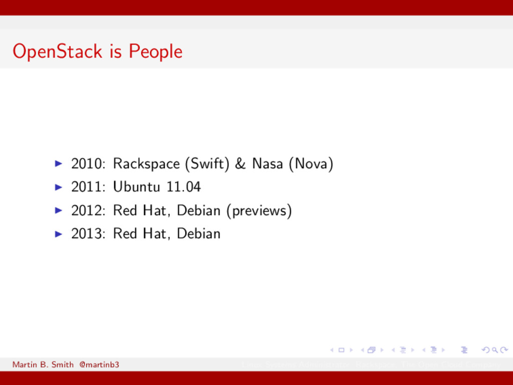 OpenStack is People 2010: Rackspace (Swift) & N...