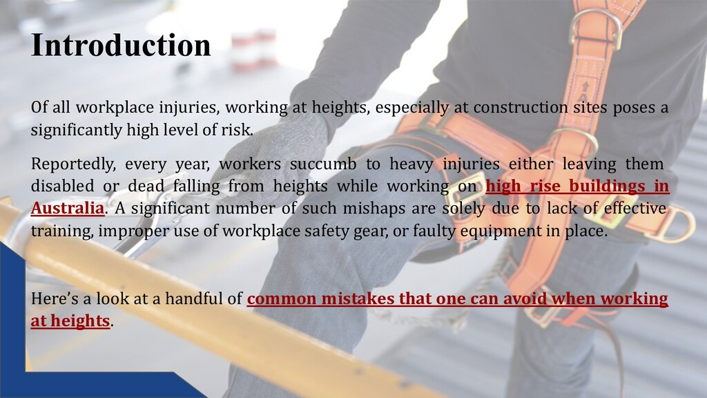 Introduction Of all workplace injuries, working...