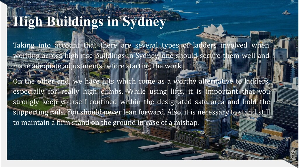 High Buildings in Sydney Taking into account th...