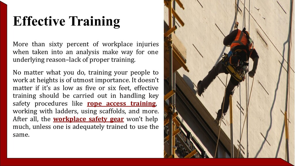 Effective Training More than sixty percent of w...