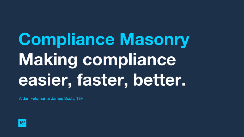 Compliance Masonry Making compliance easier, fa...