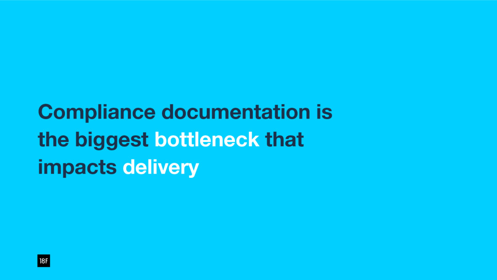 Compliance documentation is the biggest bottlen...