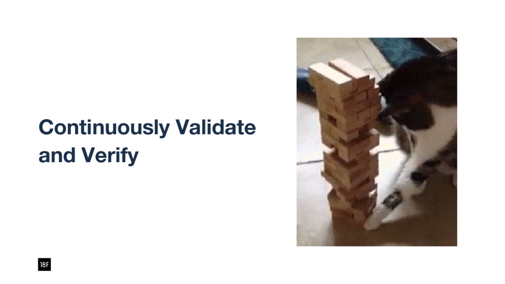 Continuously Validate and Verify