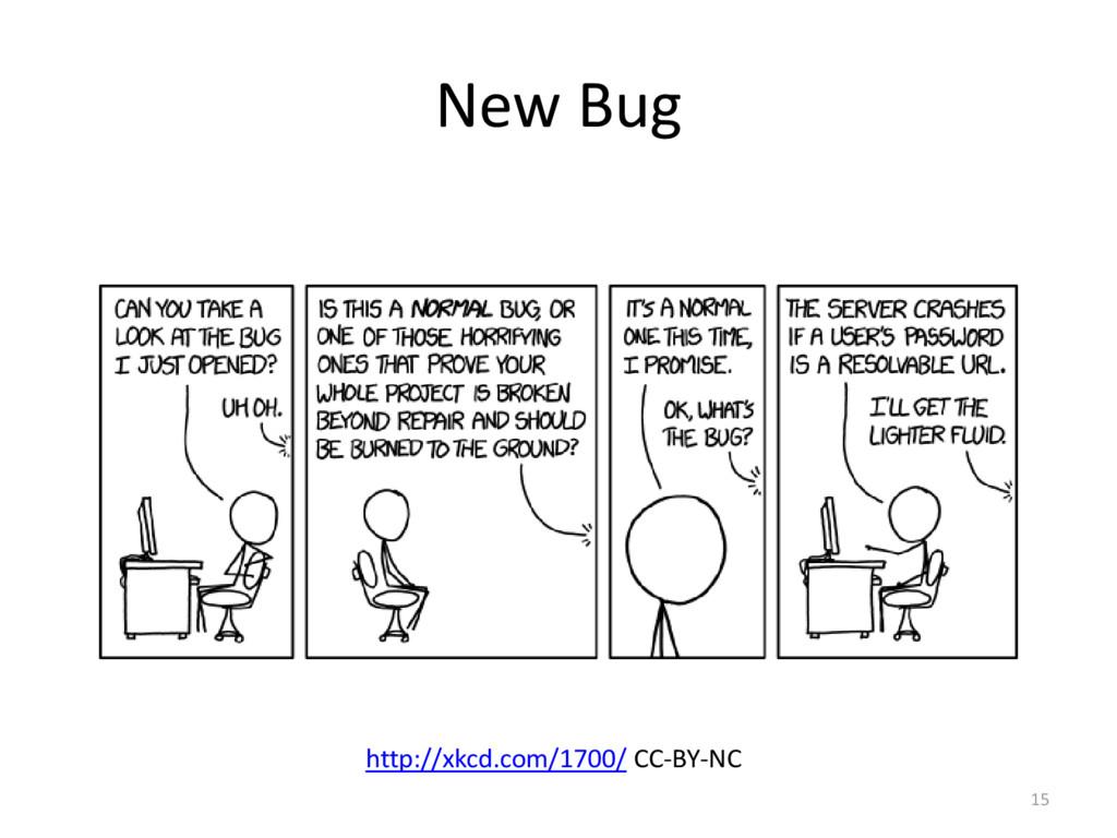 New Bug 15 http://xkcd.com/1700/ CC-BY-NC