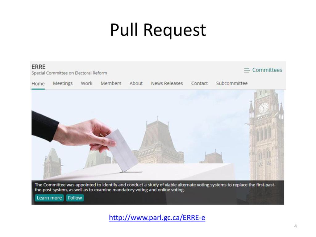 Pull Request 4 http://www.parl.gc.ca/ERRE-e