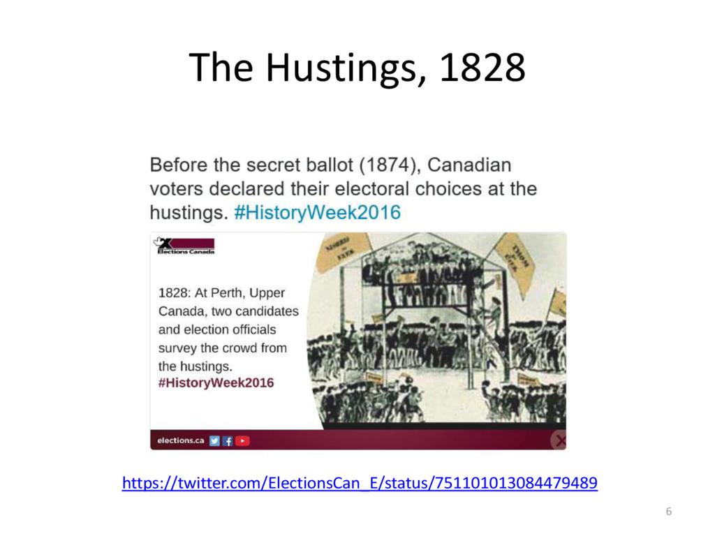 The Hustings, 1828 6 https://twitter.com/Electi...