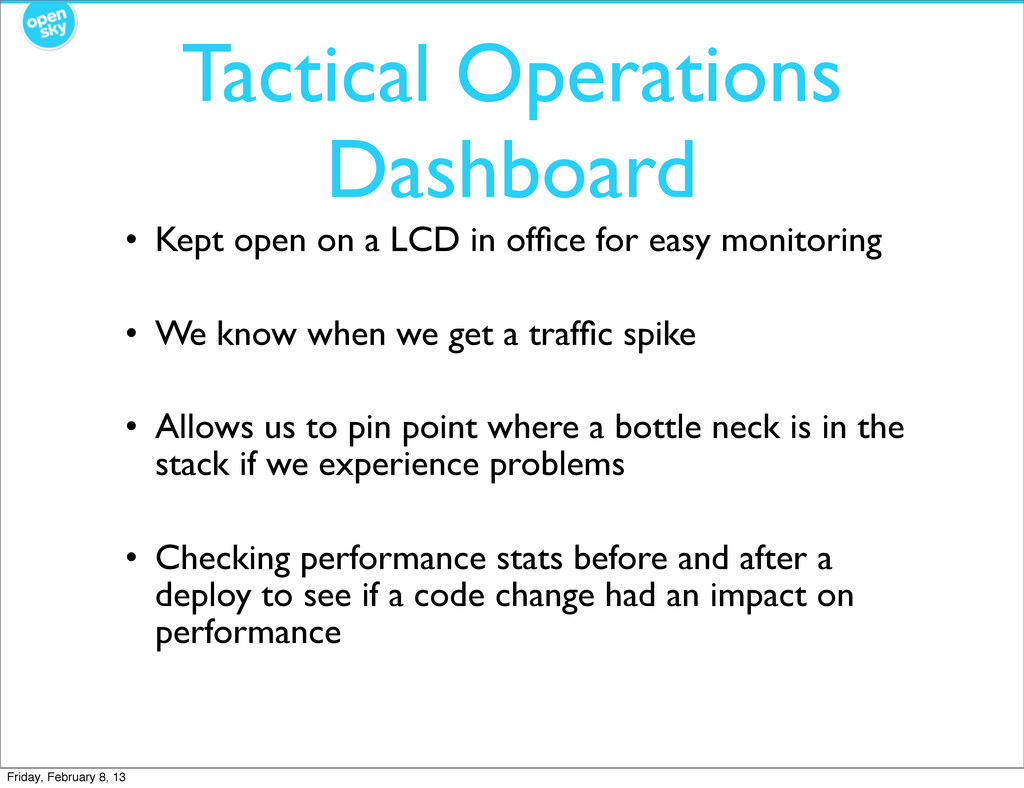 Tactical Operations Dashboard • Kept open on a ...