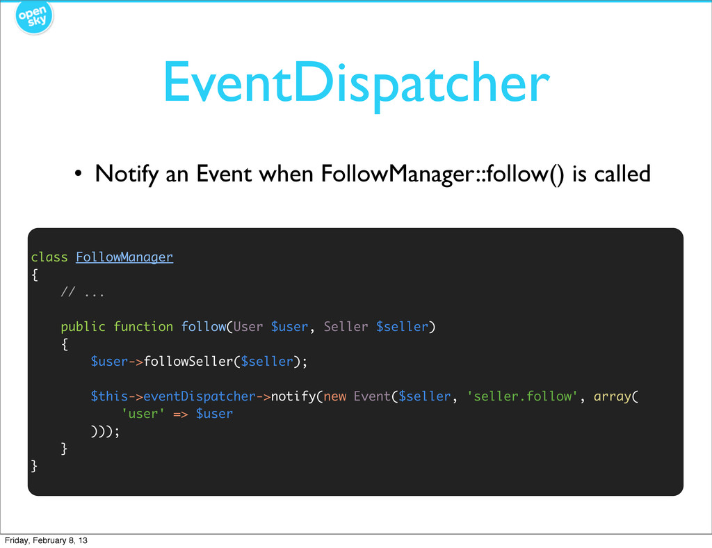 EventDispatcher • Notify an Event when FollowMa...