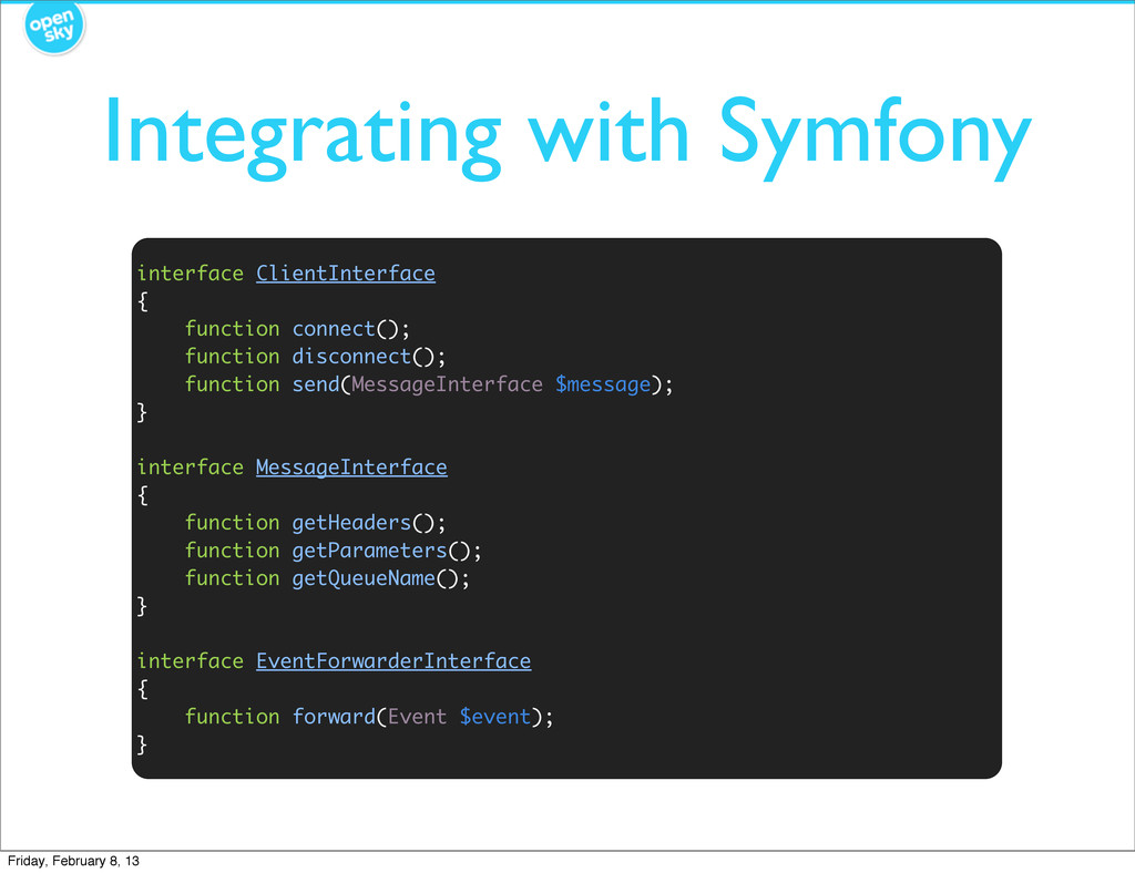 Integrating with Symfony interface ClientInterf...