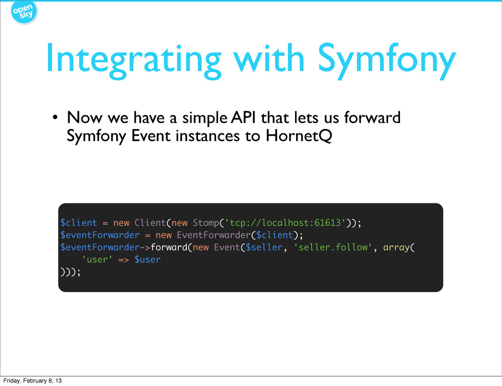 Integrating with Symfony $client = new Client(n...