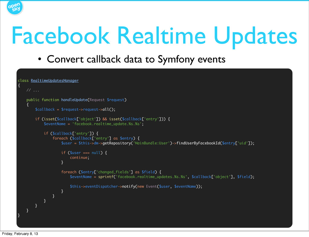 • Convert callback data to Symfony events Faceb...